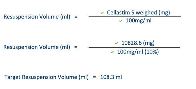 Cellastim S App Note 2 Caluculations